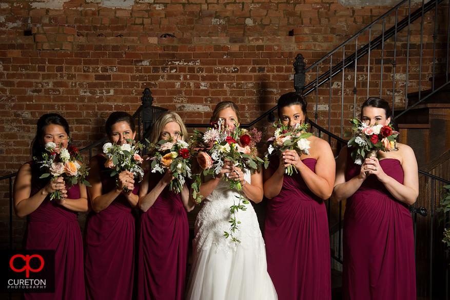 Bridesmaids at the Old Cigar Warehouse.