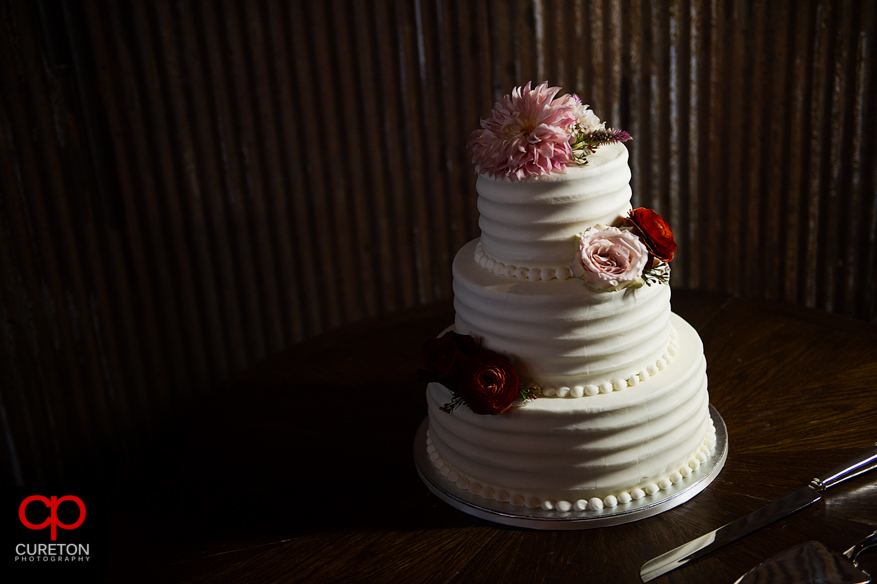 An amazing wedding cake from Kathy and Company.