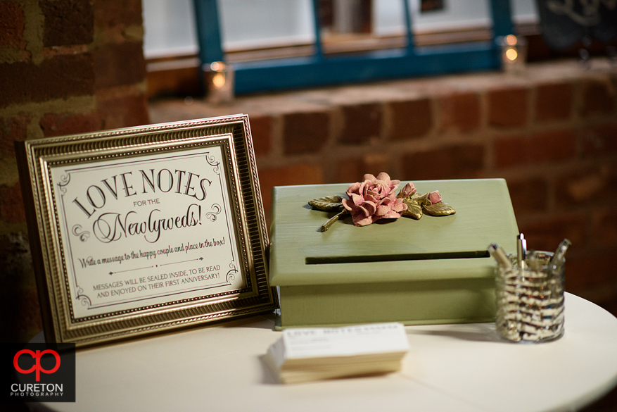 Intricate wedding details at the Old Cigar Warehouse.