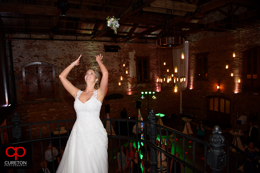 Uptown Entertainment keeping the party going at the Old Cigar Warehouse wedding reception.
