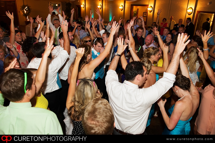 Crowd dancing to Pros Only DJ at Larkin's Sawmill in Greenville,SC.