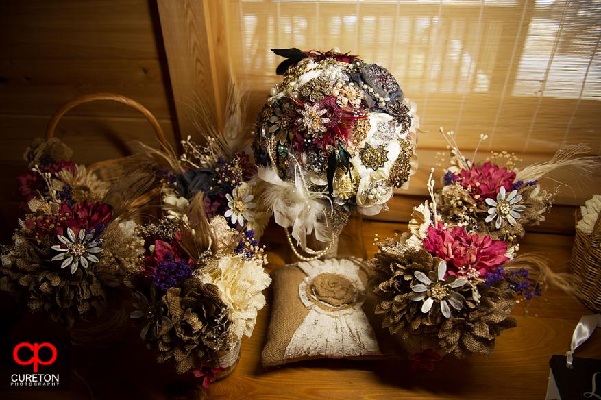 The brides bouquet .