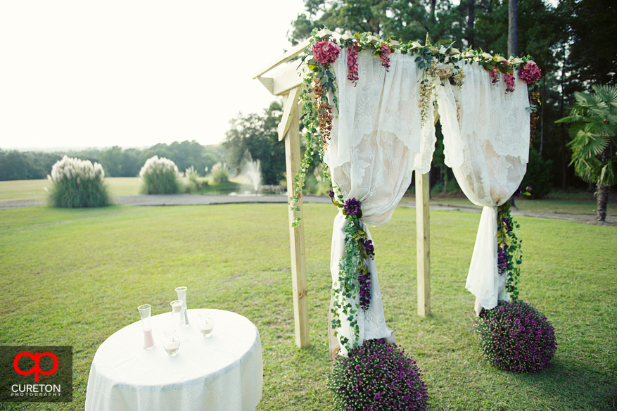The archway before the wedding.