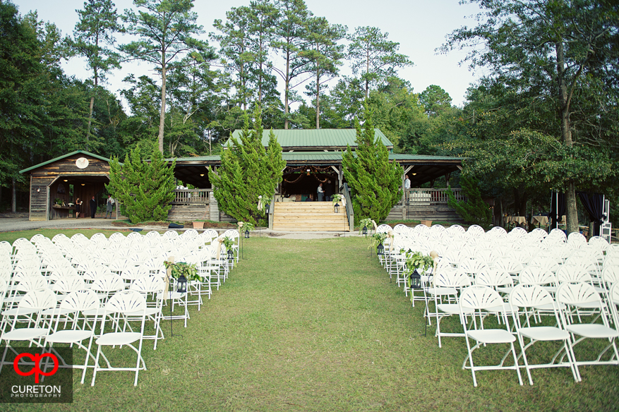 Chairs setup before the wedding.