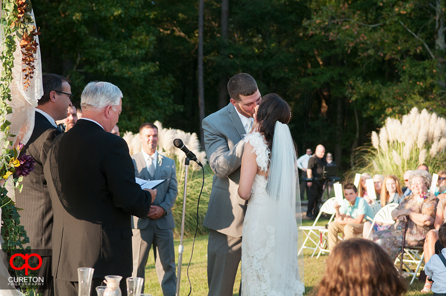 First Kiss at the wedding.
