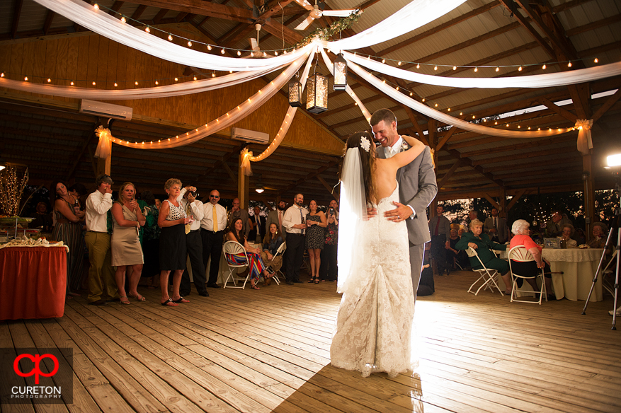 Couple during their first dance.