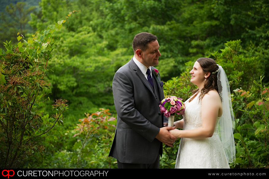 A couple getting married in the South Carolina mountains.