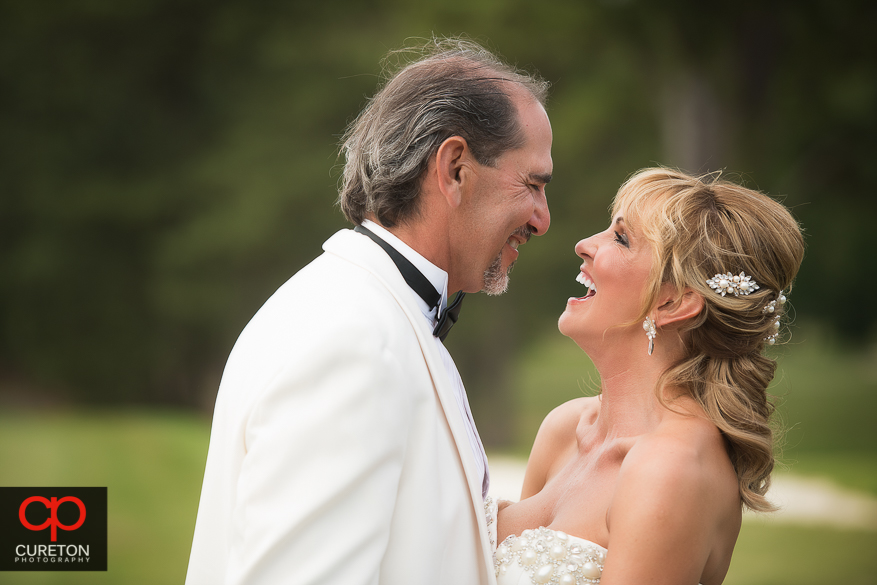 Bride and Groom after their Spartanburg Country Club Wedding.
