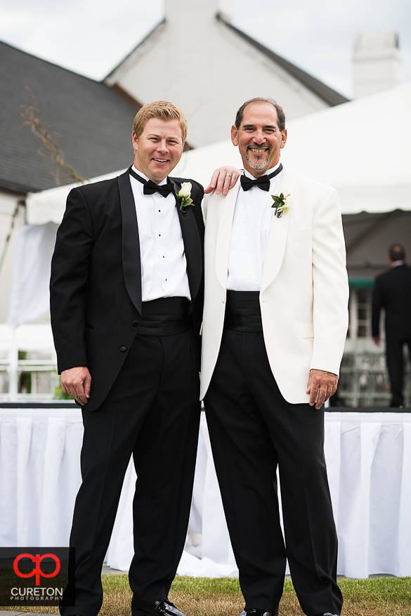 Groom and his best man before the wedding.