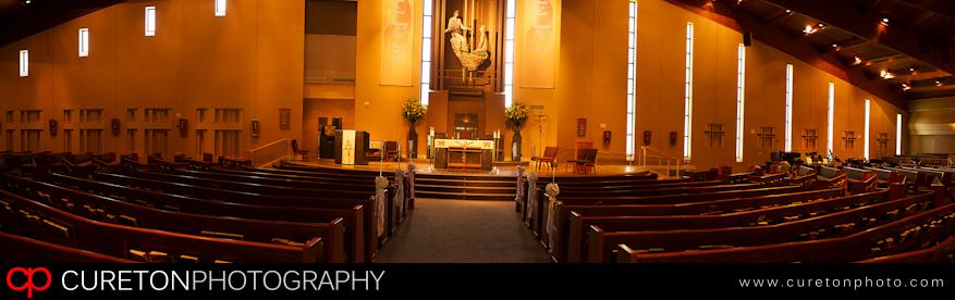 The inside of St Mary Magdalene in Greenville,Sc