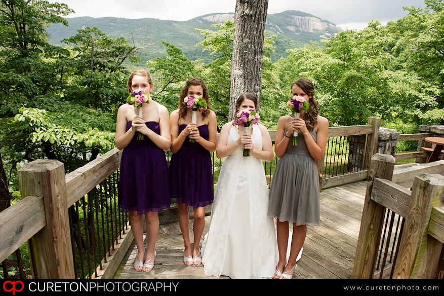 Bridesmaids at Table Rock.
