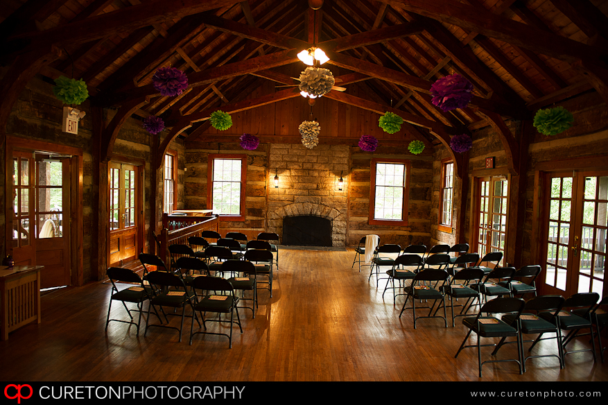 The decor for a wedding.