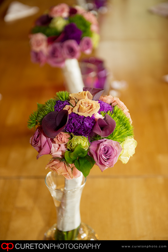 Flowers on the table.