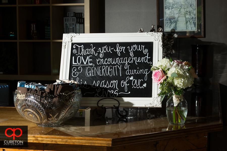 Details and vintage wedding signage.