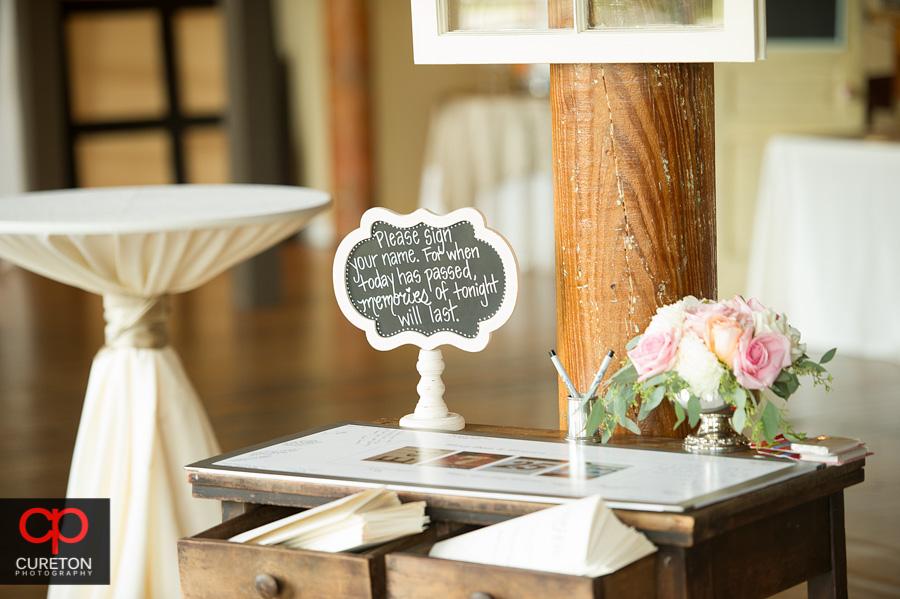 VIntage styled wedding signs.