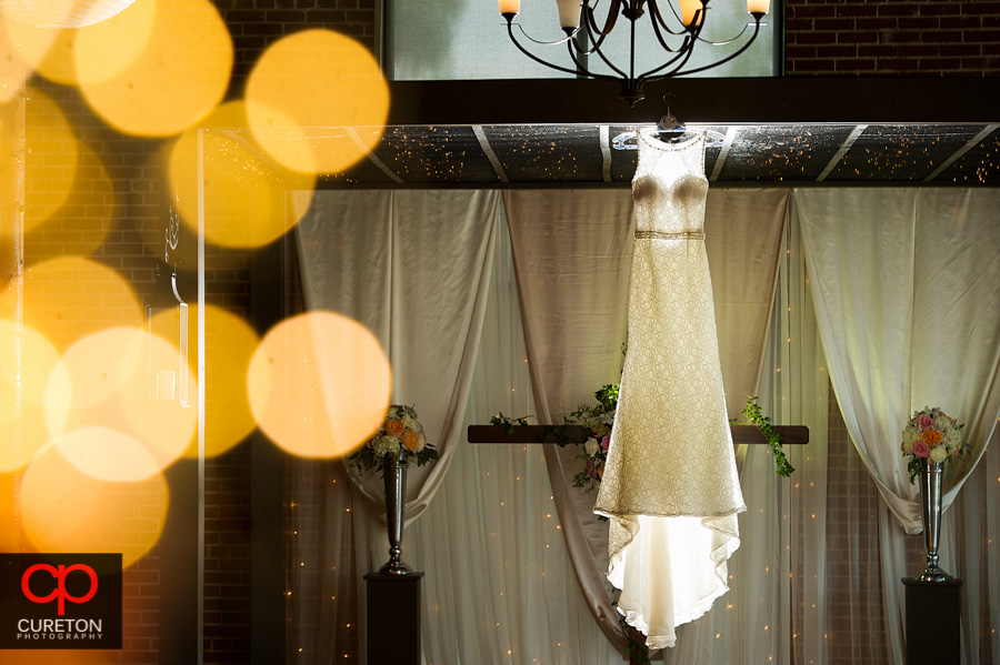 Amazing wedding dress detail shot at The Loom in Simpsonville,SC..