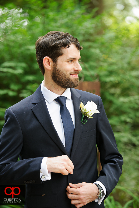 Very GQ like groom pose.