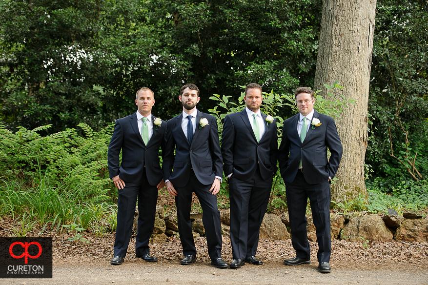Groom and groomsmen before the wedding.