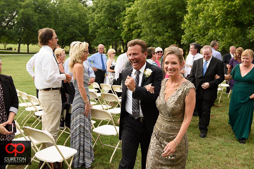 Timberock at Hopkins Farm wedding ceremony.