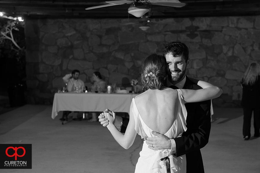 Guest having fun dancing at the Timberock at Hopkins Farm wedding reception.