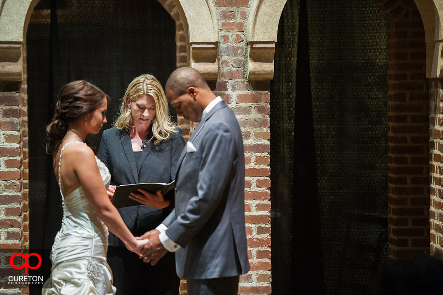 Couple being married at Upcountry History Museum.
