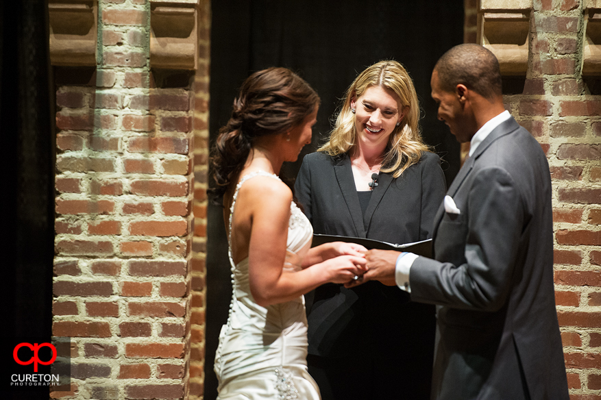 Officiant Danielle Baker at the Upcountry History Museum in Greenville,SC.