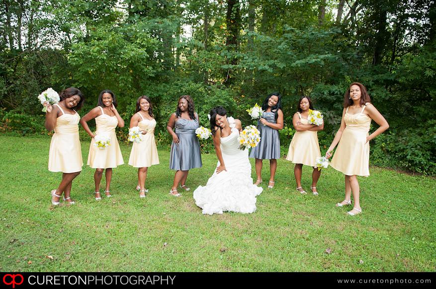 Talisha and her bridesmaids.