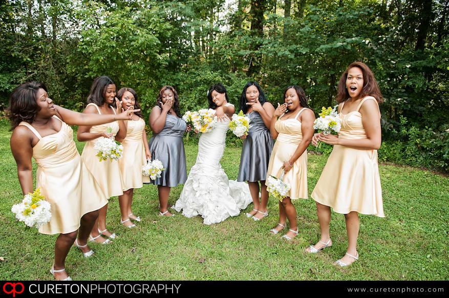 Bridesmaids pre-wedding.
