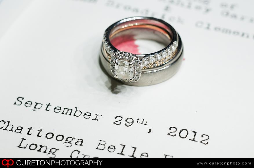 Wedding ring on the program.