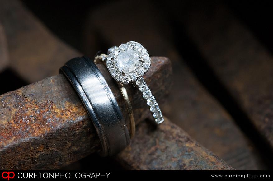 Wedding Ring on a railroad spike.
