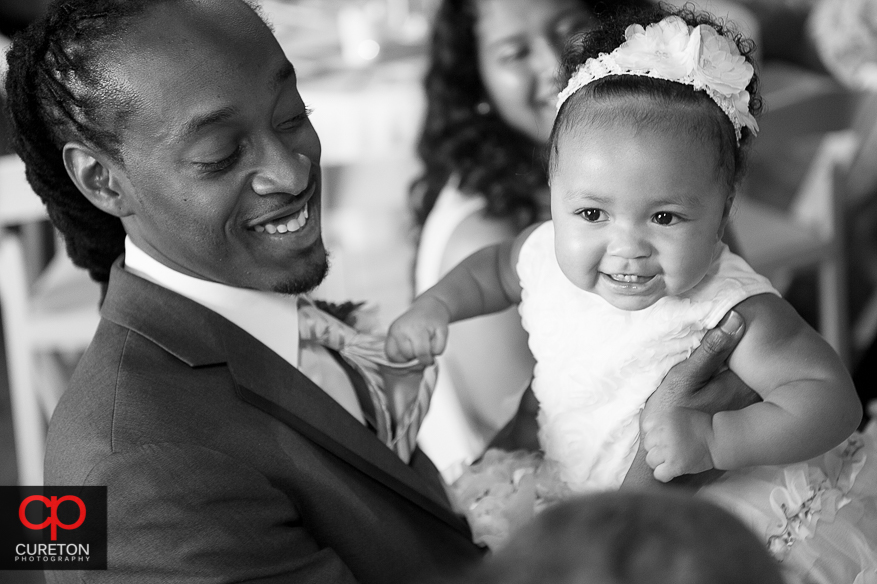Cute baby at the reception.