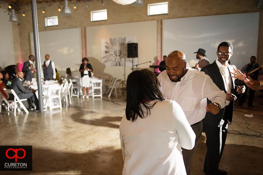 Guests dancing.