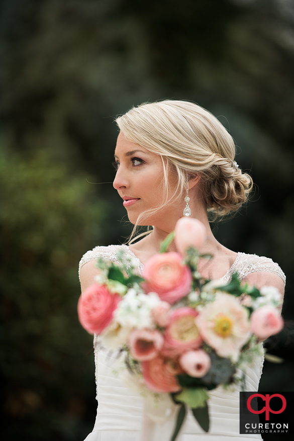 Fashioned styled bridal session shot by Cureton Photography in Greenville,SC.