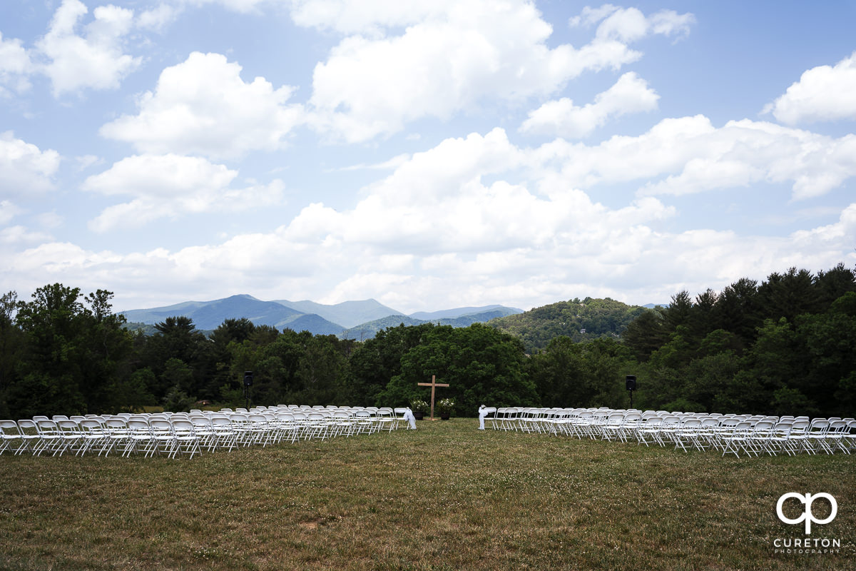 Asheville outdoor wedding ceremony.