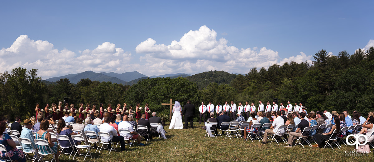 Asheville, NC outdoor wedding ceremony.