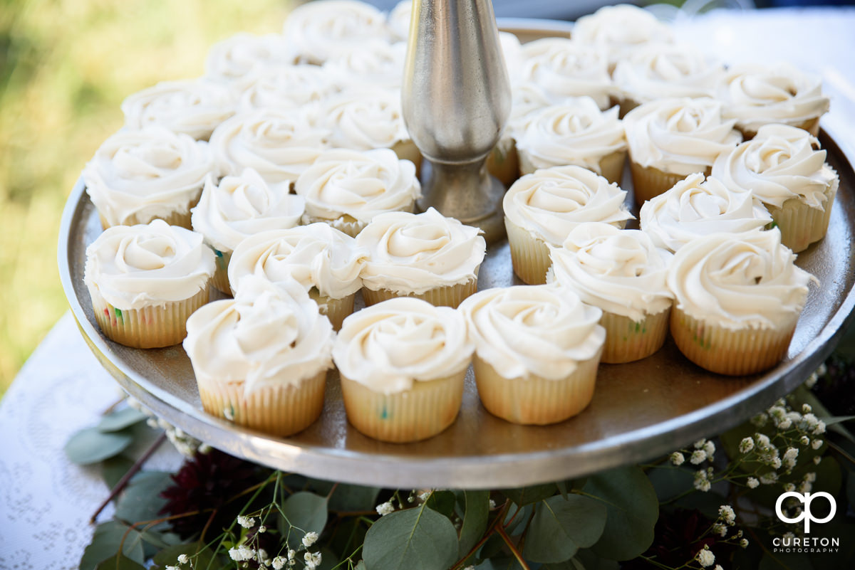 Wedding cup cakes.