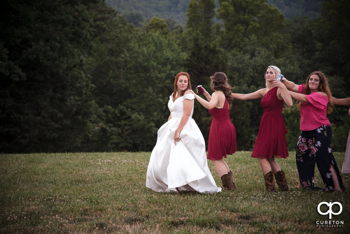 Wedding dance train.