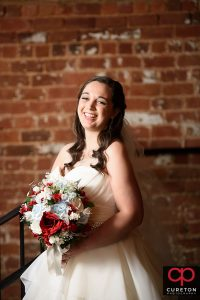 Laughing bride.