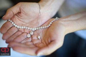 Bride's jewelry.