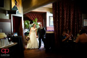 Wedding reception at Georges Brasserie in Charlotte NC.