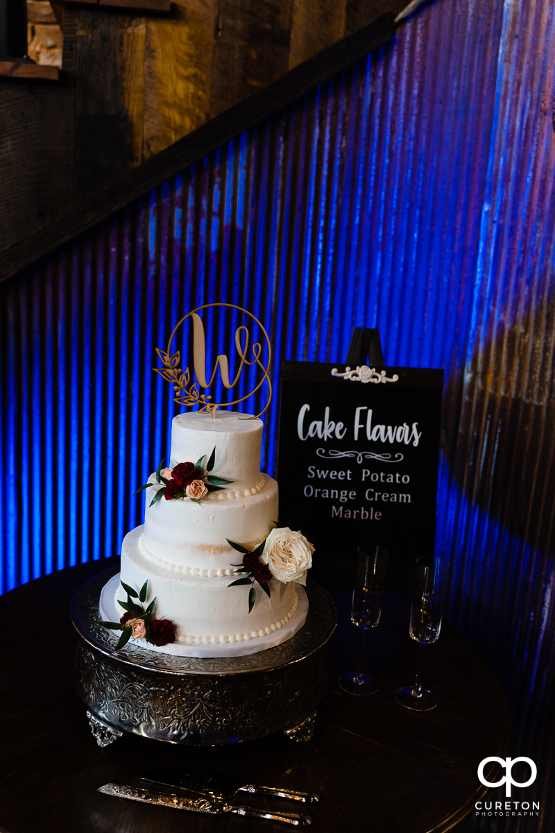 Amazing wedding cake by Holly's Cakes in Greenville,SC.