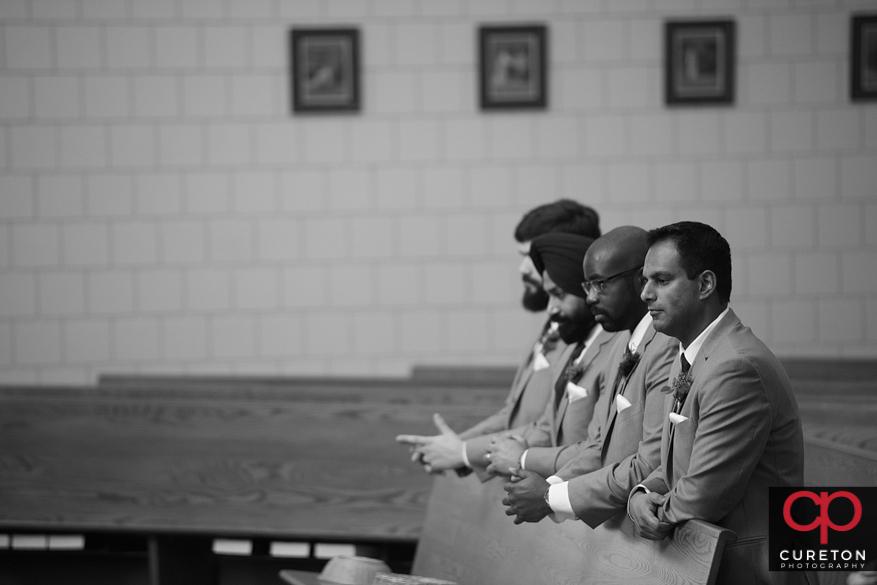 Wedding ceremony at St. Andrews Church in Clemson,SC.