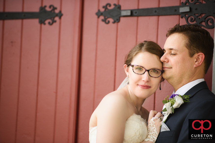 Brie and groom after ceremony.