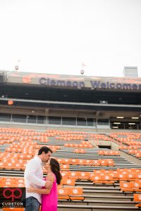 Engaged couple at Death Valley in Clemson.