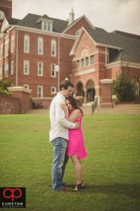 Future bride and groom on Bowman Field.