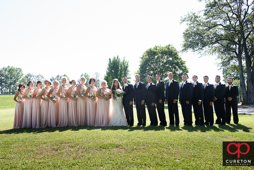 Wedding party outside of Mountain view baptist church.