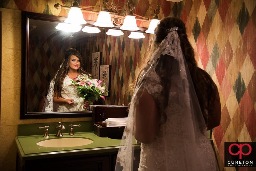 Bride before the wedding.