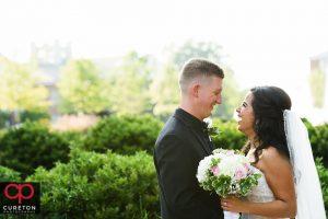 Newlyweds at Furman University.