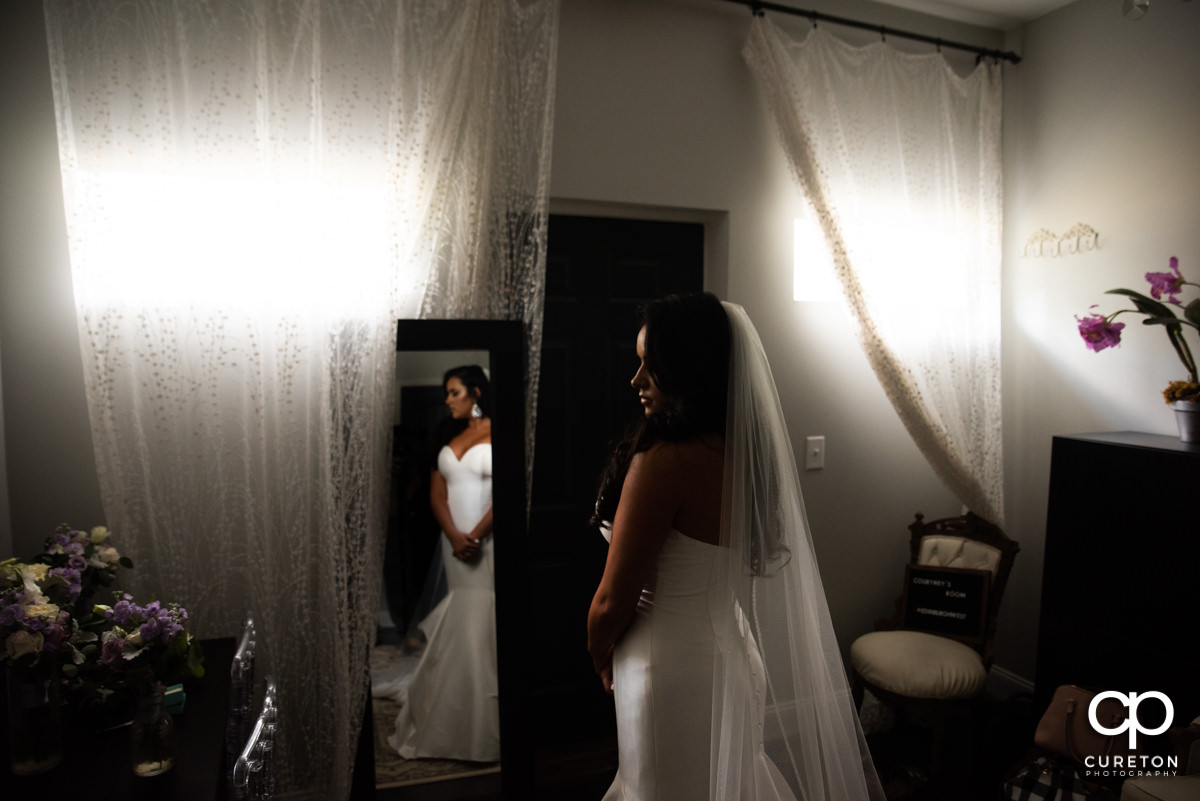 Bride in the bridal suite at Edinburgh West.