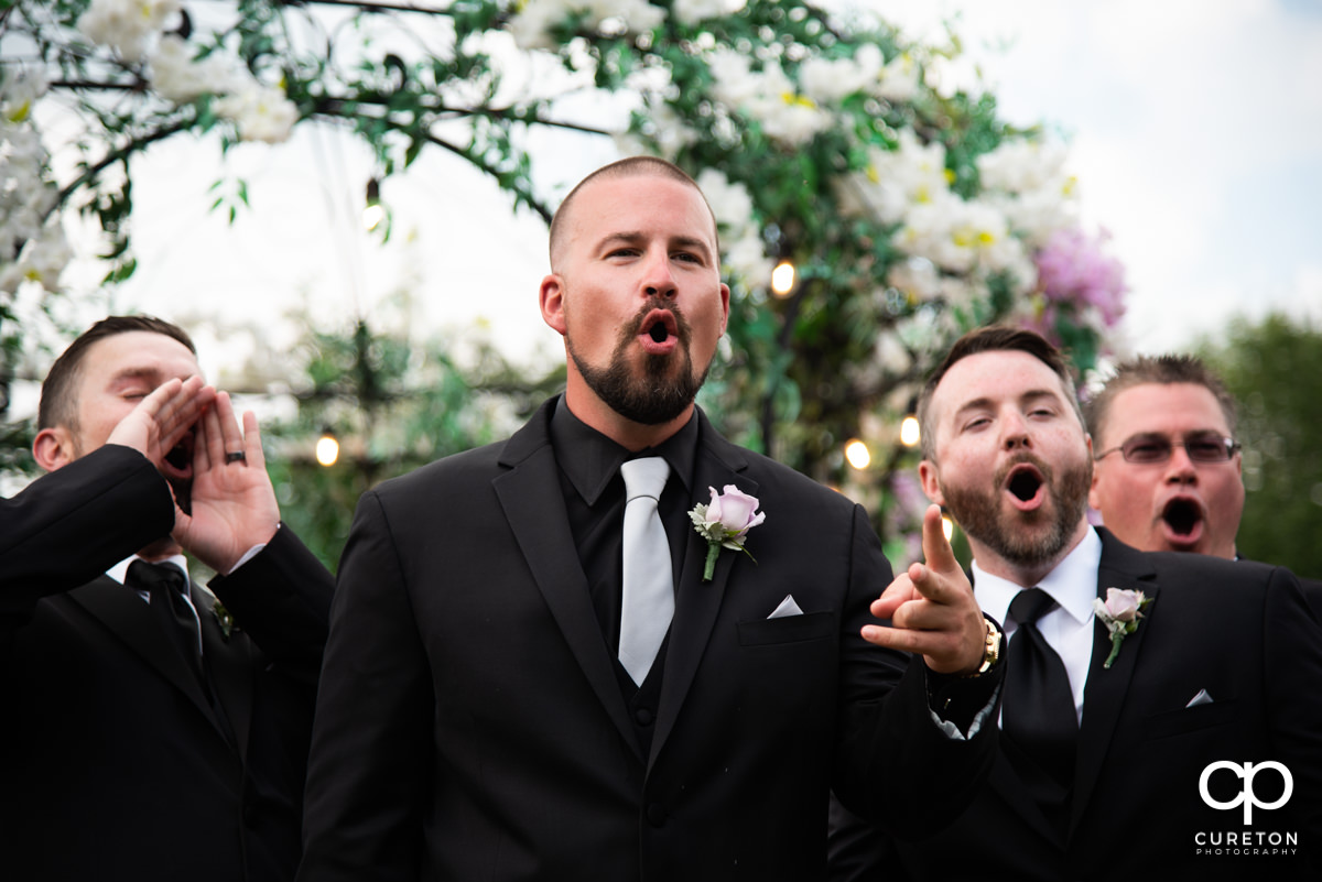 Groomsmen before the ceremony.